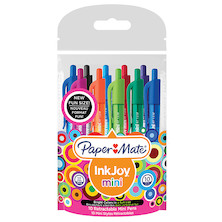 Paper Mate Inkjoy Mini Retractable Ballpoint Pen Assorted Set of 10