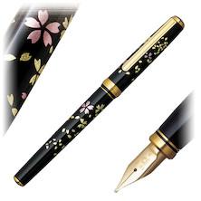 Platinum Kanazawa-Haku Fountain Pen Swirling Petals of Cherry Blossom