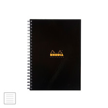 Rhodia Business Book A4 Lined Hardback Wirebound Black