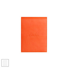 Rhodia Rhodiarama Leatherette Refillable Notepad No.12 (95 x 130) Tangerine