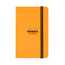 Rhodia Unlimited Elastic Closure Notebook Orange (90 x 140)