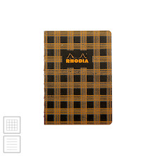 Rhodia Heritage Raw Bound Notebook Tartan A5