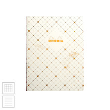 Rhodia Heritage Raw Bound Notebook Quadrille 190x250