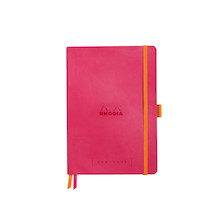 Rhodia Rhodiarama Softcover Goalbook With White Paper A5 Raspberry