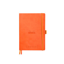 Rhodia Rhodiarama Softcover Goalbook With White Paper A5 Tangerine