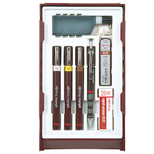 rotring isograph Technical Drawing Pen College Set