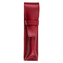 Cult Pens Ruitertassen Double Leather Pen Case Red
