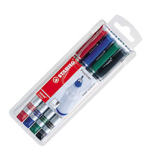 STABILO sensor Fineliner Pen Wallet of 4 Colours Basics