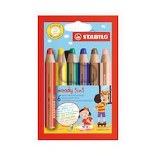 STABILO Woody 3-in-1 Pencil Set of 6