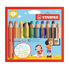 STABILO Woody 3-in-1 Pencil Set of 10
