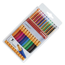 STABILO pointVisco Gel Rollerball Pen Assorted Wallet of 10