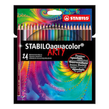 STABILO ARTY aquacolor Colouring Pencil Wallet of 24