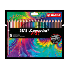 STABILO ARTY aquacolor Colouring Pencil Wallet of 36
