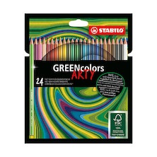 STABILO ARTY GREENcolors Colouring Pencil Wallet of 24