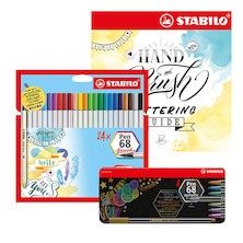 STABILO Pen 68 and Lettering Guide Set