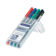 Staedtler Lumocolor Marker Pen non-permanent Fine Wallet of 4