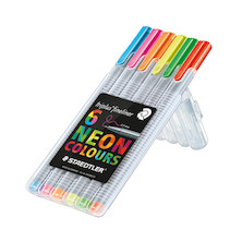 Staedtler Triplus Fineliner Pen Neon Set of 6