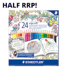 Staedtler Ergosoft Colouring Pencil Johanna Basford 24 Piece Set