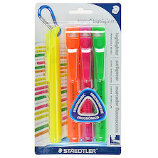 Staedtler Triplus Highlighter Assorted Wallet of 4