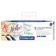 Staedtler Calligraph Duo Markers Assorted Set of 5
