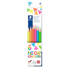 Staedtler Ergosoft Colour Pencils Neon Set of 6
