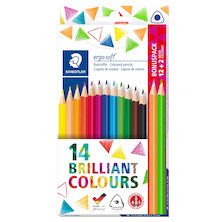 Staedtler Ergosoft Colour Pencils Set of 12 + 2 NEON Colours