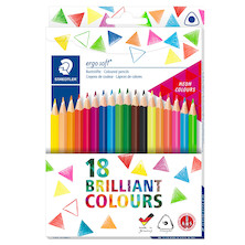 Staedtler Ergosoft Colour Pencils Set of 12 + 6 NEON Colours