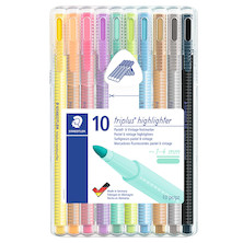 Staedtler Triplus Textsurfer Pastel Highlighter Assorted Deskset of 10