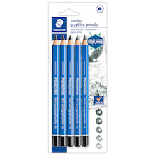 Staedtler Mars Lumograph Jumbo Pencil Assorted Set of 5