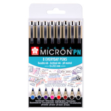 Sakura Pigma Micron PN Drawing Pen Assorted Set of 8