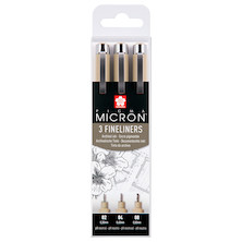Sakura Pigma Micron Drawing Pen Set of 3 Black 02-04-08