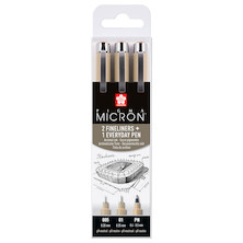 Sakura Pigma Micron Drawing Pen Set of 3 Urban