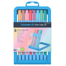 Schneider Slider Edge XB Ballpoint Pen Pastel Set of 8 Assorted