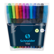 Schneider Vizz Ballpoint Pen Medium Assorted Set of 10