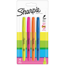 Sharpie Pocket Highlighter Assorted Set of 4