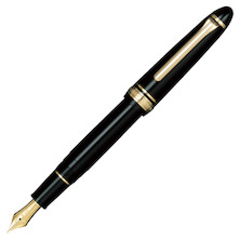Sailor 1911 Standard Fountain Pen Black with Gold Trim 21K Nib