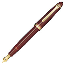 Sailor 1911 Standard Fountain Pen Burgundy with Gold Trim 21K Nib