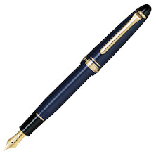 Sailor 1911 Standard Fountain Pen Blue with Gold Trim