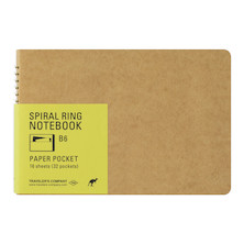 TRAVELER'S COMPANY Notebook Spiral Ring B6 Paper Pocket