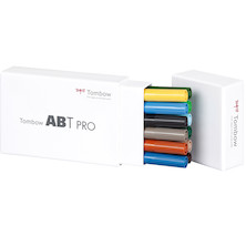 Tombow ABT PRO Dual Brush Pen Set of 12 Landscape