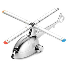 Troika Ready 4 Takeoff Helicopter Paperweight with Propeller Pens