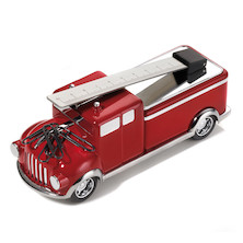 Troika Firefighter Fire Engine Paperweight with Ruler