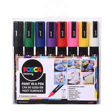 Uni POSCA Marker Pen PC-5M Medium Set of 8 Assorted