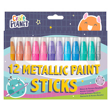 Docrafts Craft Planet Paint Sticks Metallic Set of 12