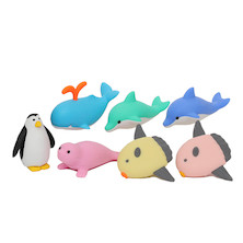 Iwako Puzzle Eraser Set Marine Animals