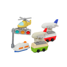 Iwako Puzzle Eraser Set Vehicles