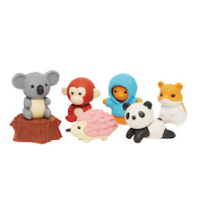 Iwako Puzzle Eraser Set Forest Animals