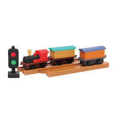 Iwako Puzzle Eraser Set Locomotive
