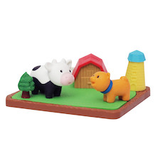 Iwako Puzzle Eraser Set Farm Animals