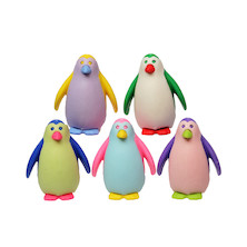 Iwako Puzzle Eraser Colorz Set Penguin